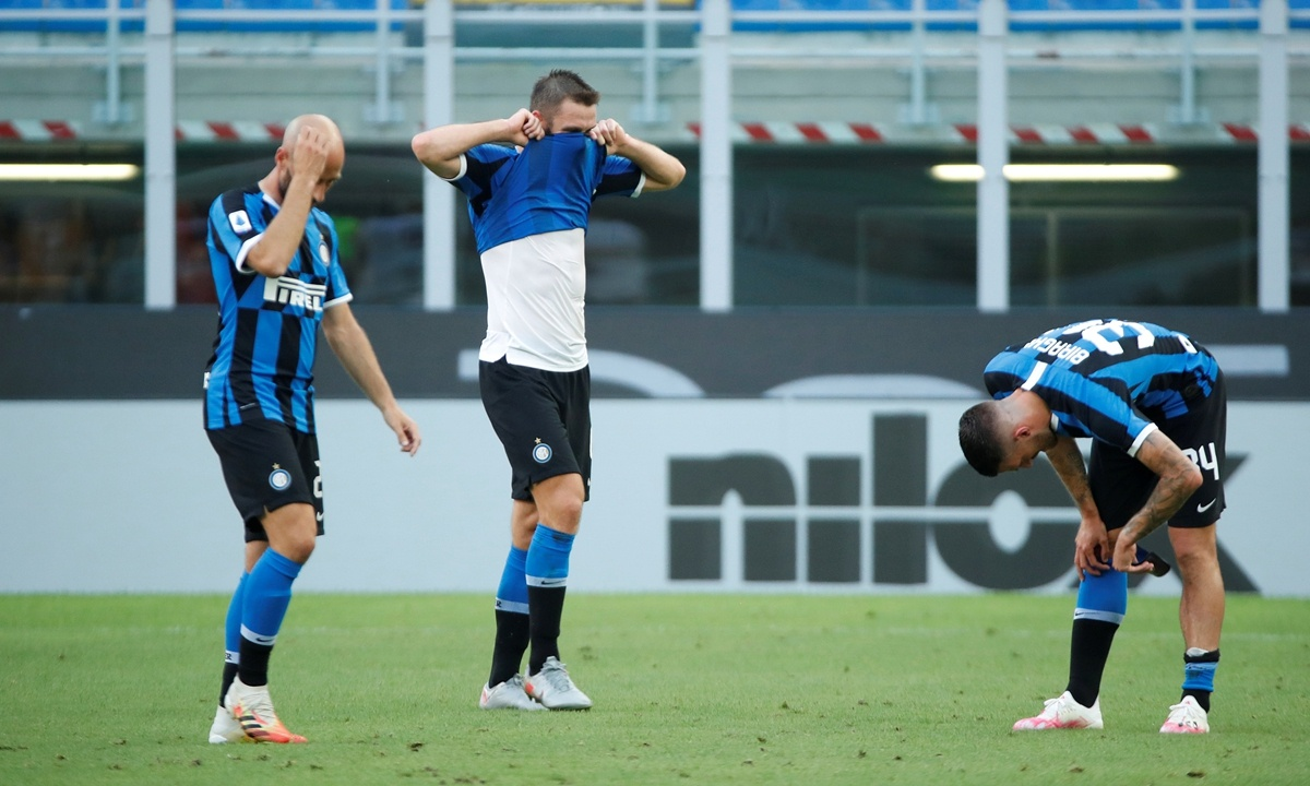 Inter title hopes all but over