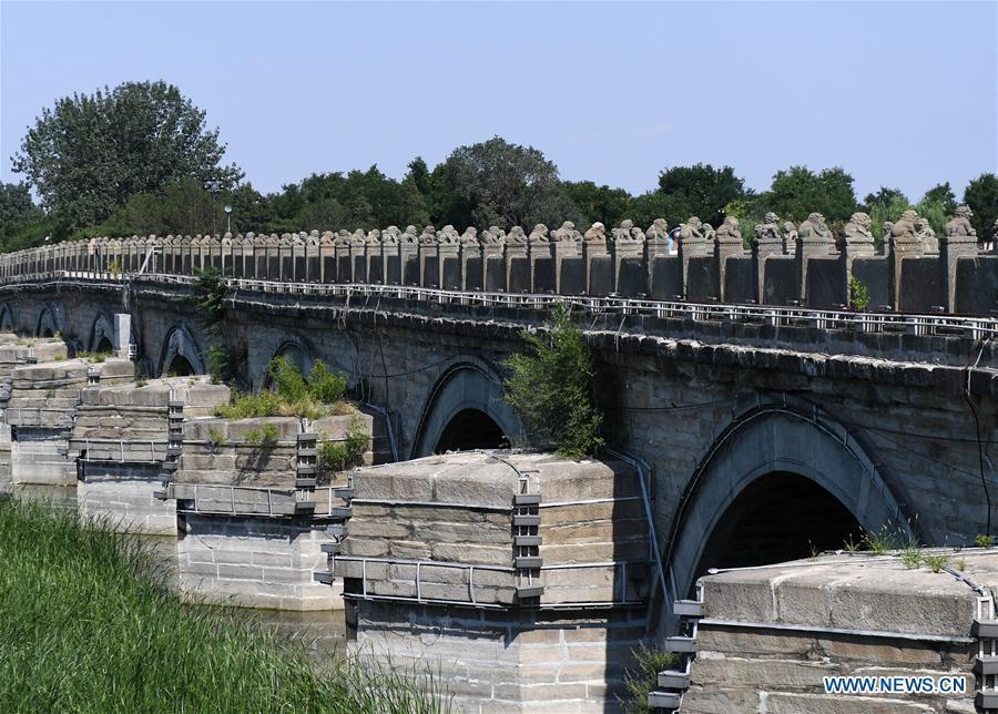 View of Lugou Bridge in Beijing