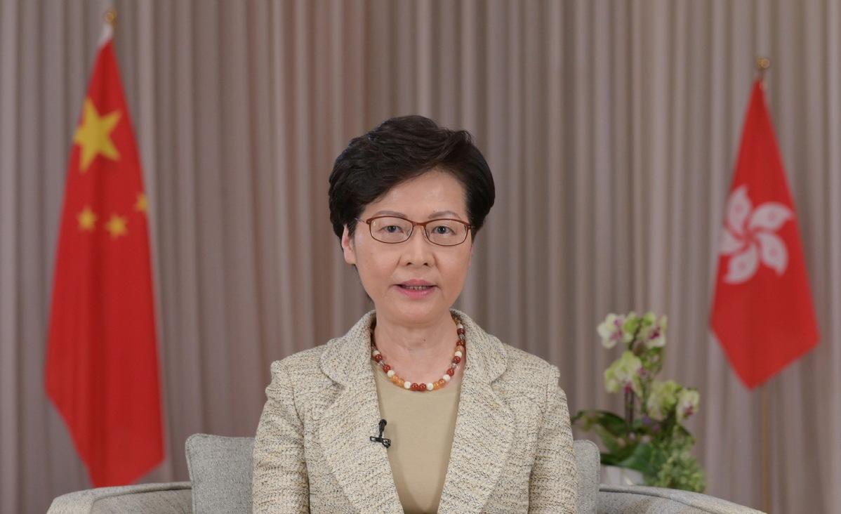 Lam says market shows confidence in legislation