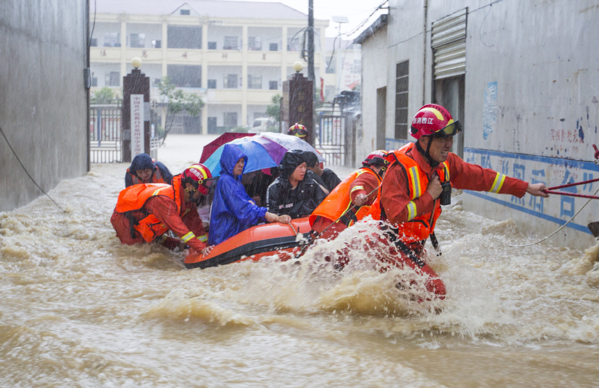 Rescue operations underway in East China's Jiangxi