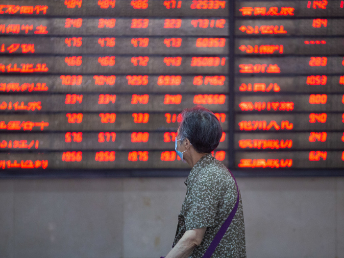 Chinese shares higher at midday Wednesday