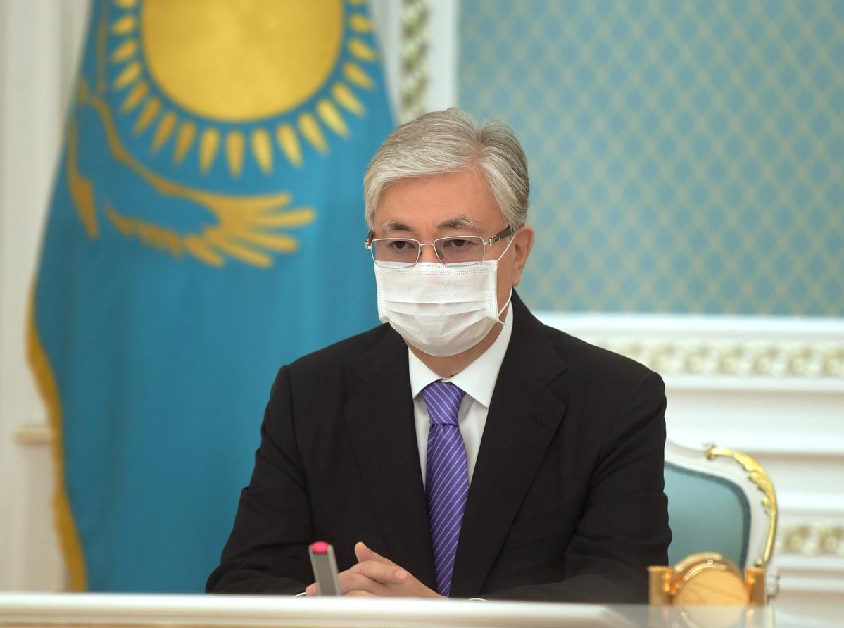 Kazakh president warns cabinet could be dissolved if epidemiological situation doesn't improve