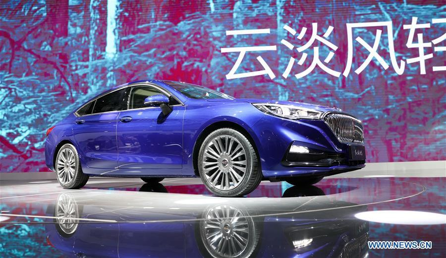 Hongqi H5 sedan displayed at 17th China Changchun Int'l Automobile Expo