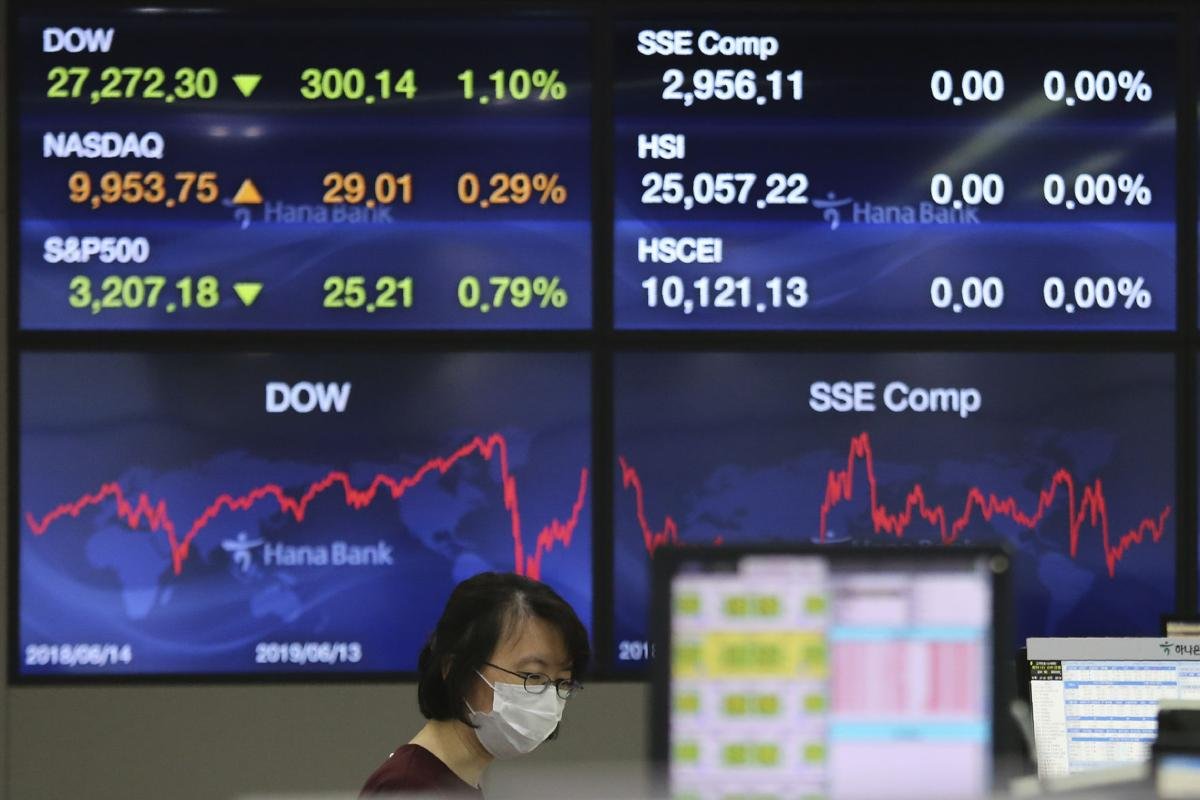 Asian markets turn lower as infection rates jump