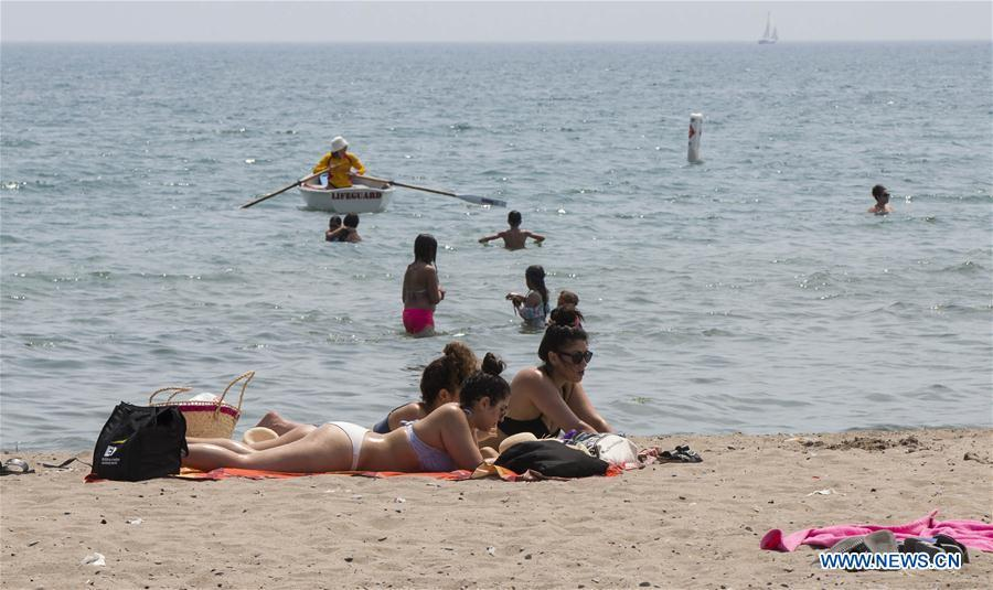 In pics: heat wave in Toronto, Canada