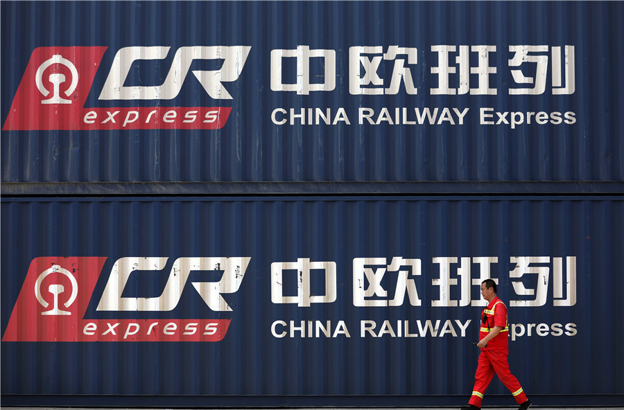 First-half freight rail journeys between China, Europe up 36 percent year-on-year