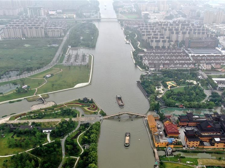Flood prevention work in full swing along branch channel of Beijing-Hangzhou Grand Canal