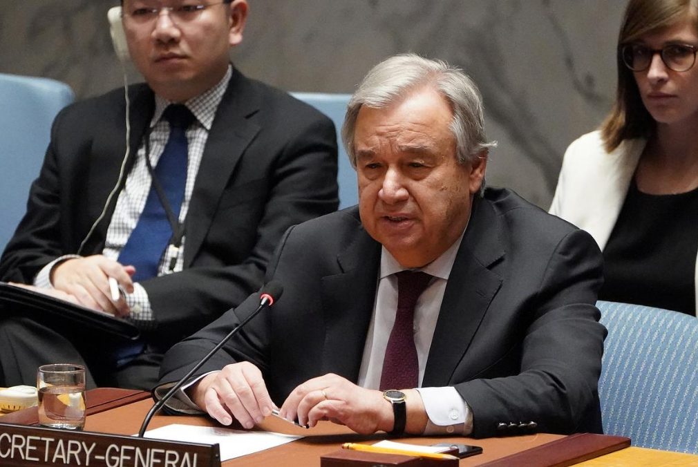 UN chief to world leaders: 'Inequality starts at the top'