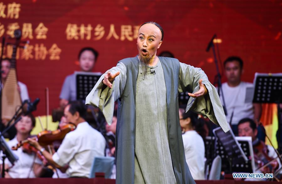 Entertainment events held in rural areas of Taiyuan, Shanxi