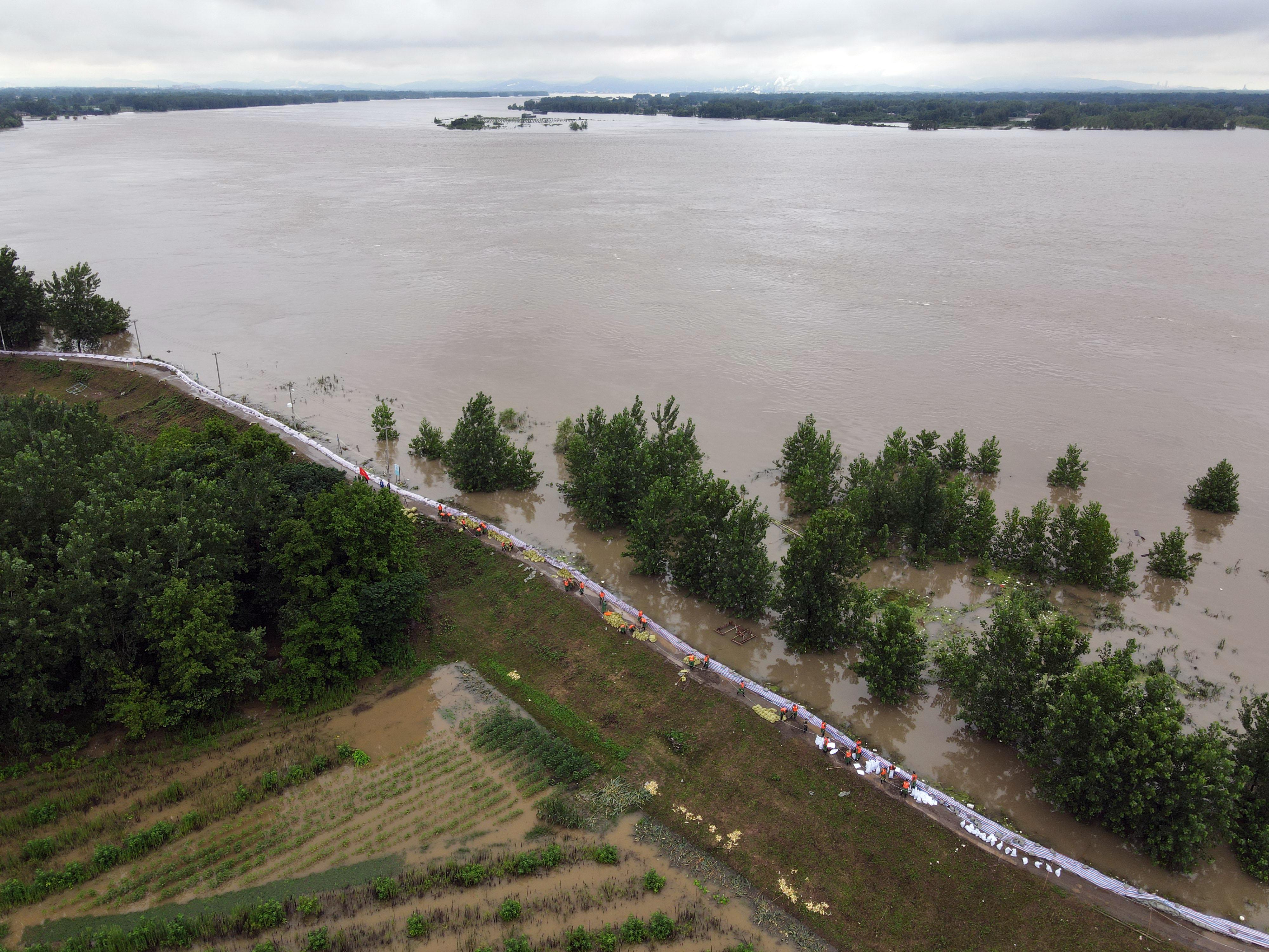 China's Huaihe River faces rising flood risks