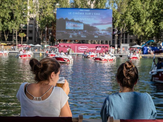 Event 'cinema on the water' held in Paris, France