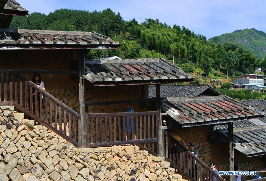 View of historical stockaded village in Yongtai County, China's Fujian