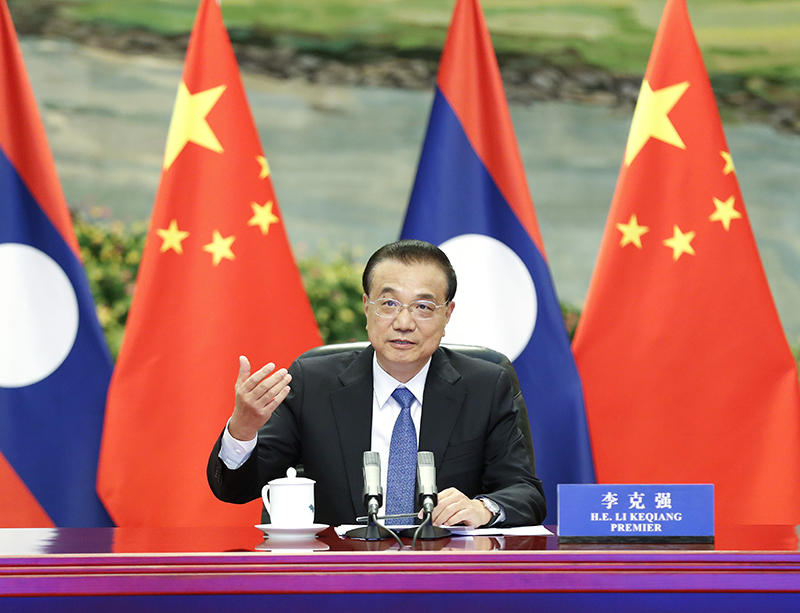 Chinese premier holds talks with Lao PM