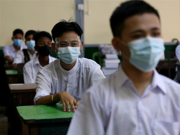 Myanmar reopens high schools after two-month suspension due to COVID-19