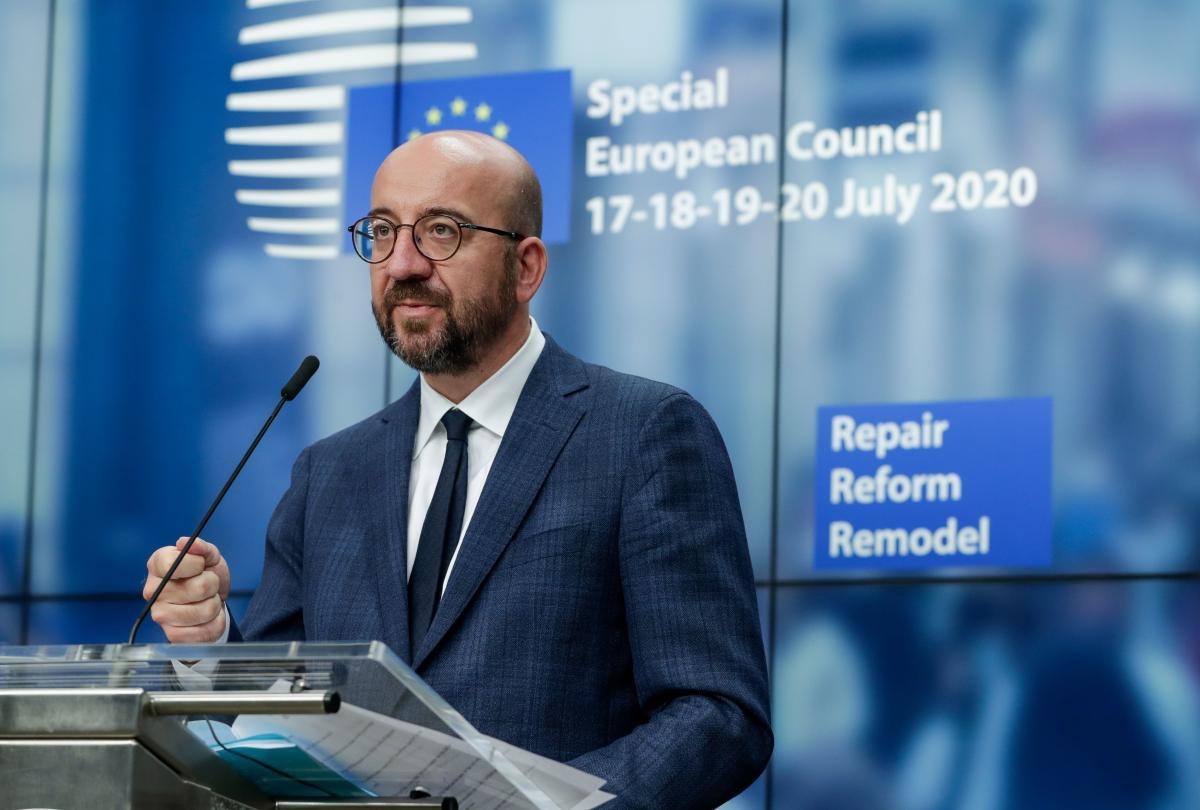 EU leaders adopt landmark coronavirus rescue package