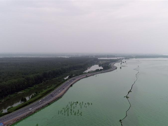 Water level at Zhongmiao hydrological station of Chaohu Lake reaches 13.36 meters