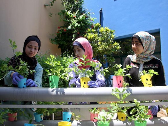 In pics: Palestinian children in program 'recycle household waste into environmentally friendly products'