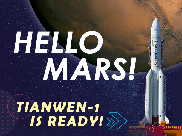 Infographic: China's Tianwen poised for first Mars probe mission