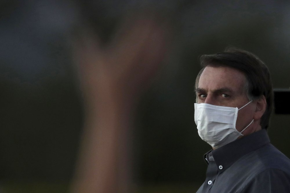 Brazil president still tests positive for virus