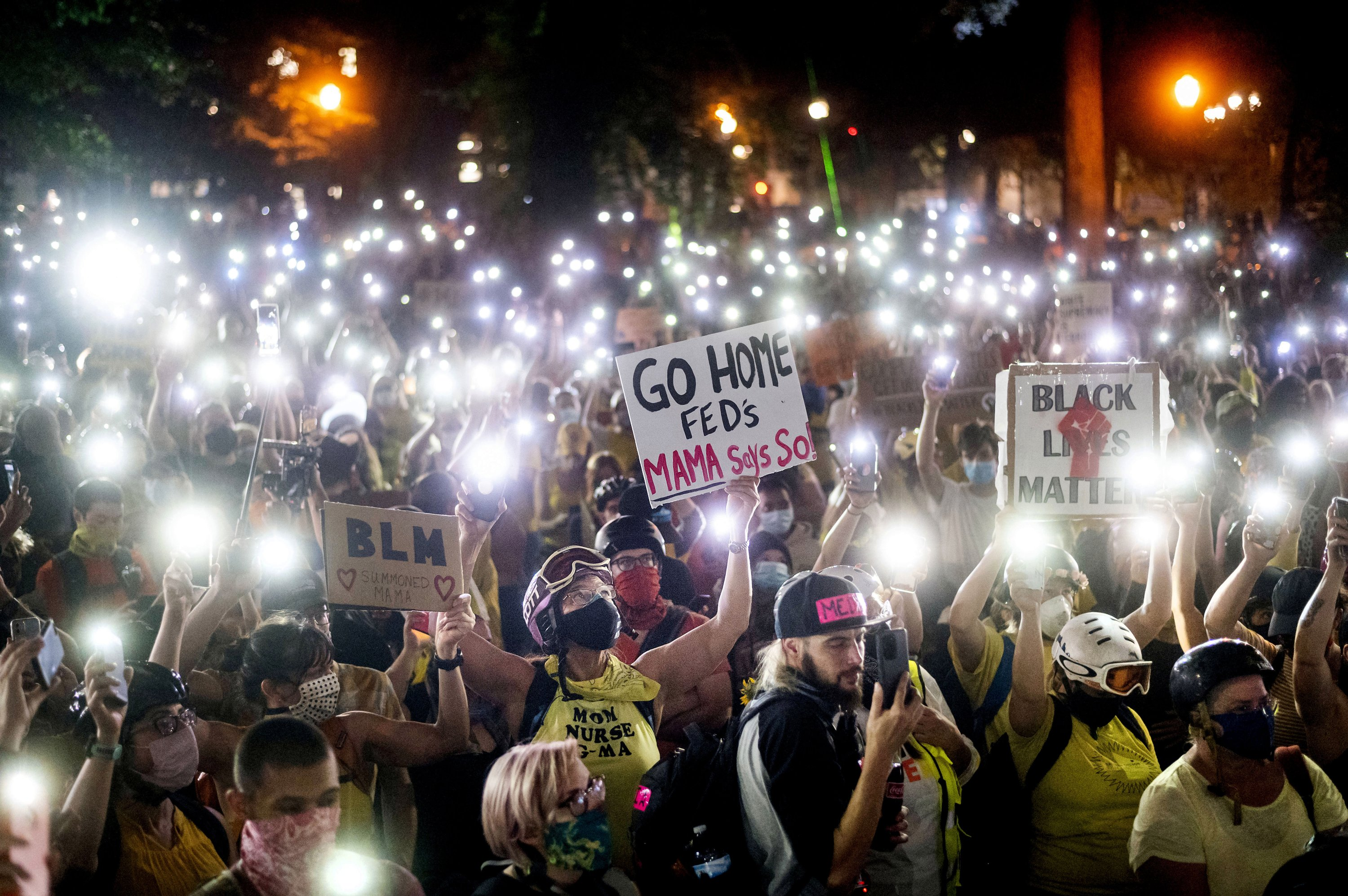 Facing federal agents, Portland protests find new momentum