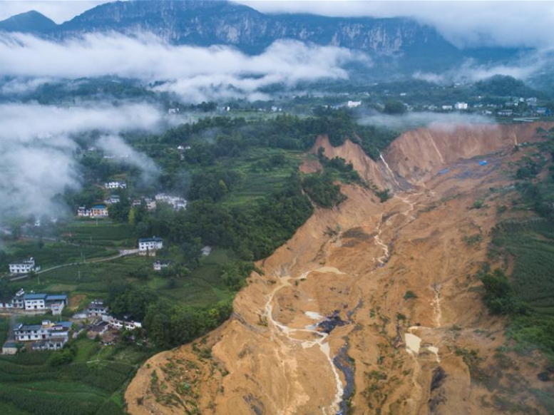 Landslide blocks river, forms barrier lake in China's Hubei