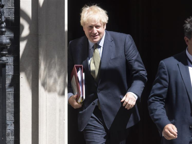 British PM leaves 10 Downing Street for Prime Minister's Questions