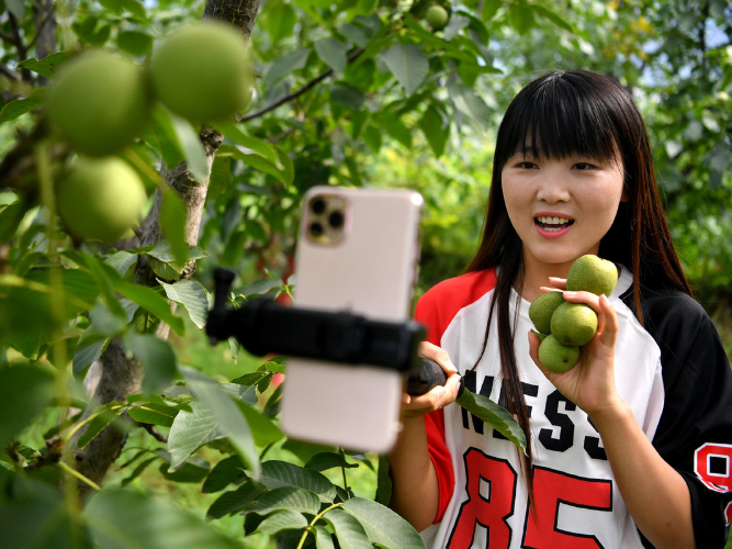 Livestreaming efforts fruitful for Shaanxi county