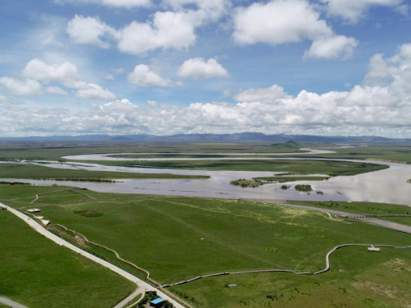 Yellow River's beautiful scenery in Tangke