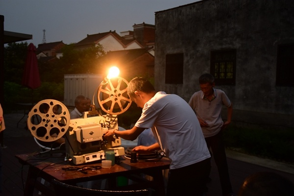 Film projectionist keeps the show on the road