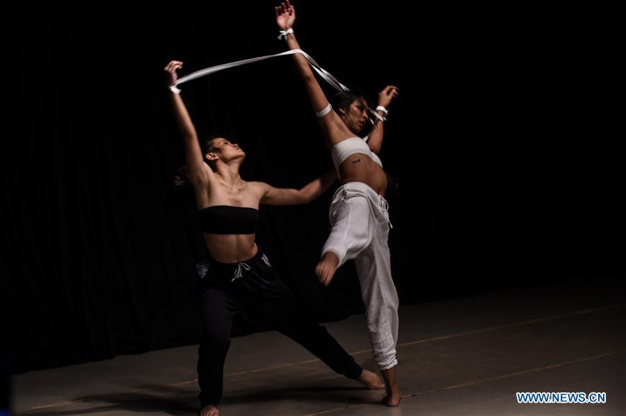 """Dancers participate in rehearsal of ballet performance """"To Live To Love To Dance"""" in Jakarta"""