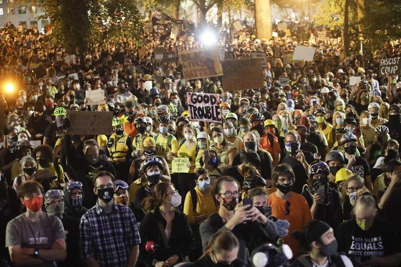 2 arrests after gunfire report near Portland protest site