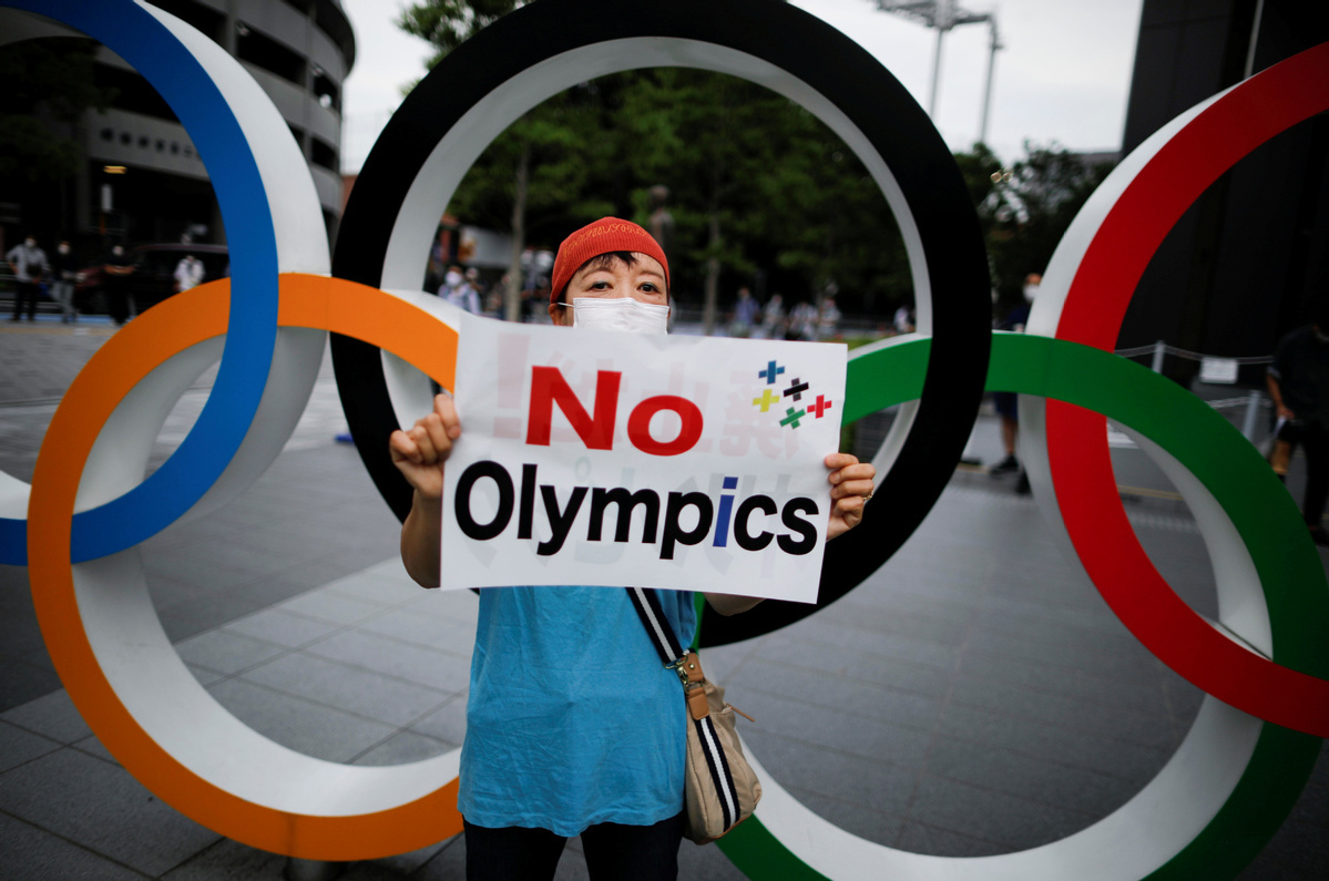 With a year to go, support slides for pandemic-hit Tokyo Olympics
