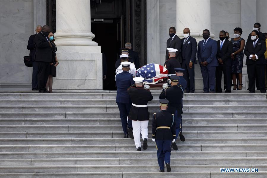 Late US Congressman John Lewis lies in state in Capitol