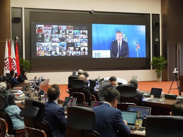 Fifth annual meeting of AIIB held via video link