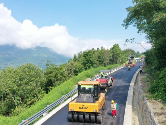 Highway under construction in Three Gorges reservoir region