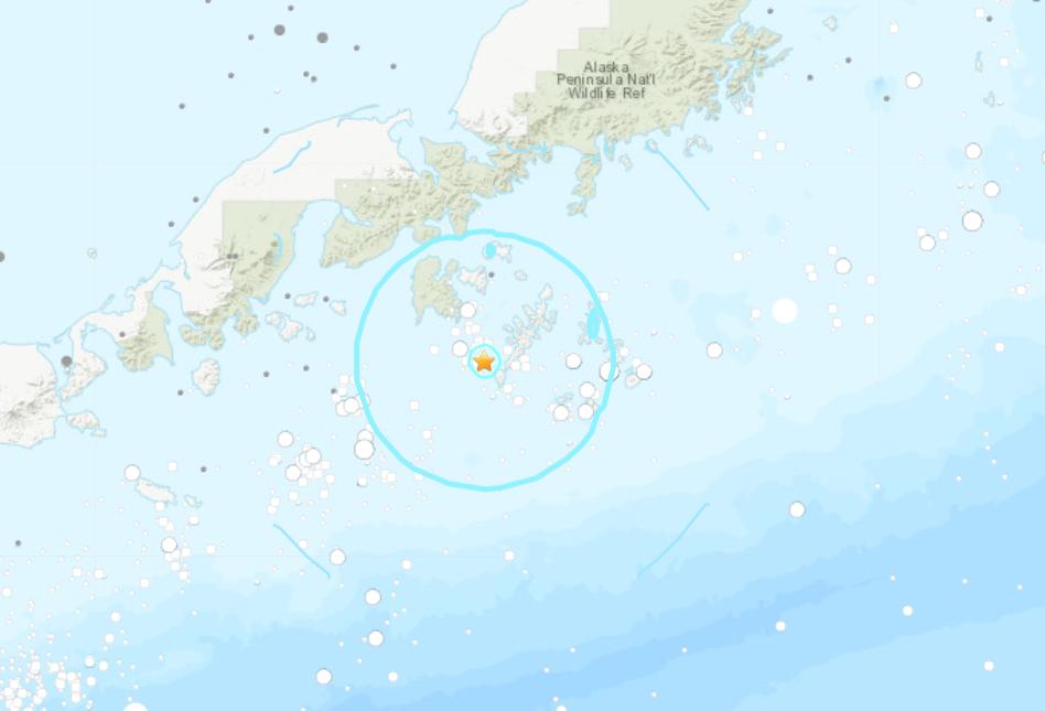 5.6-magnitude quake hits 41 km SSE of Sand Point, Alaska: USGS