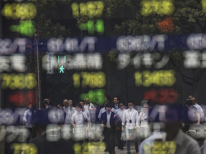 Tokyo stocks close lower as yen rises