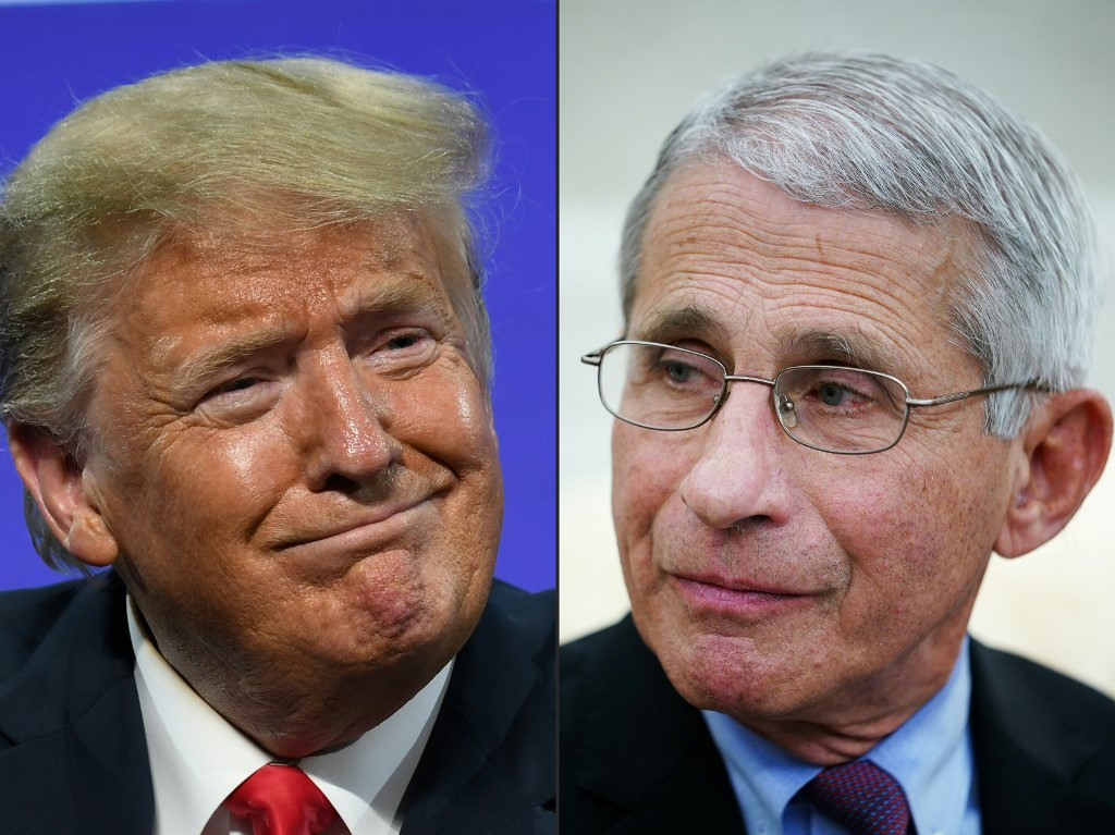 Trump asks why Fauci has higher approval rating