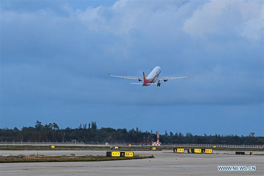 2nd phase of Haikou's airport expansion project starts test flight