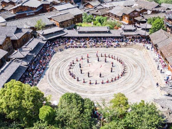 Scenery in Xijiang Qianhu Miao Village in Leishan County, Guizhou