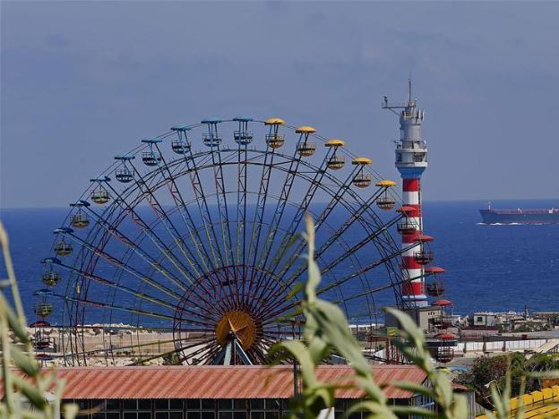 Deserted amusement park in Beirut, Lebanon