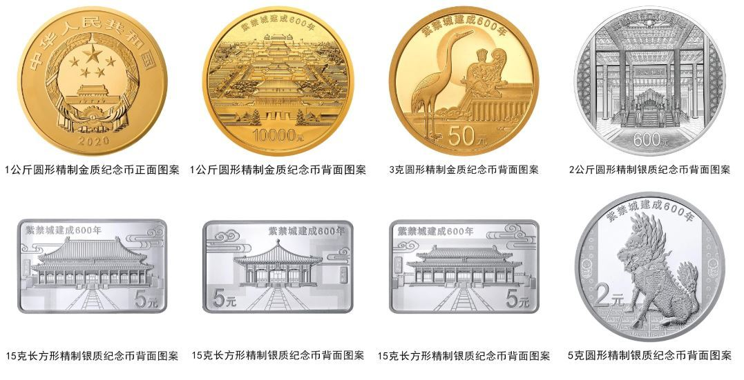 Central bank to issue Forbidden City commemorative coins on 600th anniversary