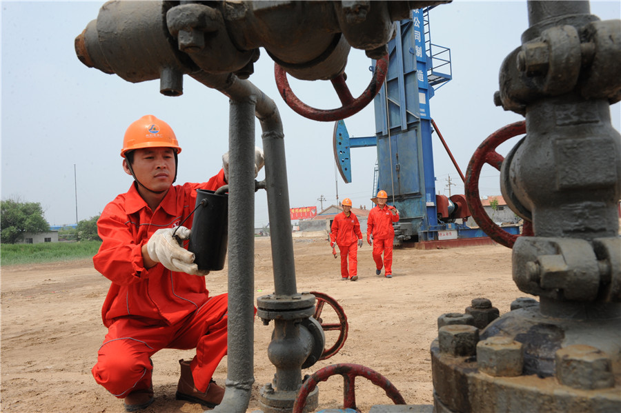 China's crude oil output on the rise