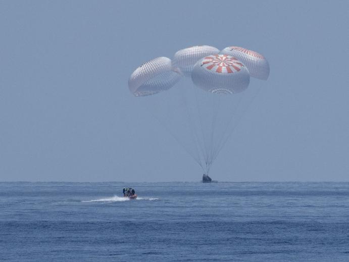 SpaceX Crew Dragon makes historic splashdown off Florida