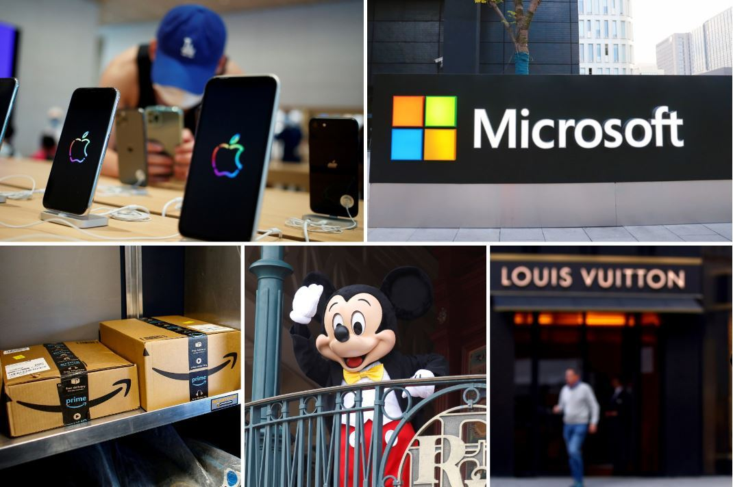 Top 10 world's most valuable brands 2020
