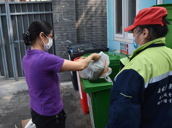 Garbage sorting yields results in Beijing