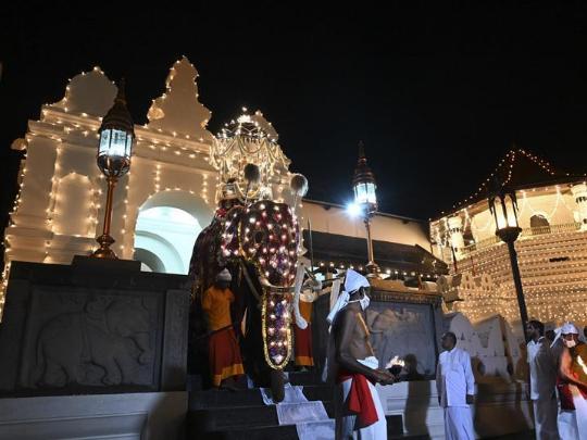 Kandy Esala Perahera festival celebrated in Kandy, Sri Lanka