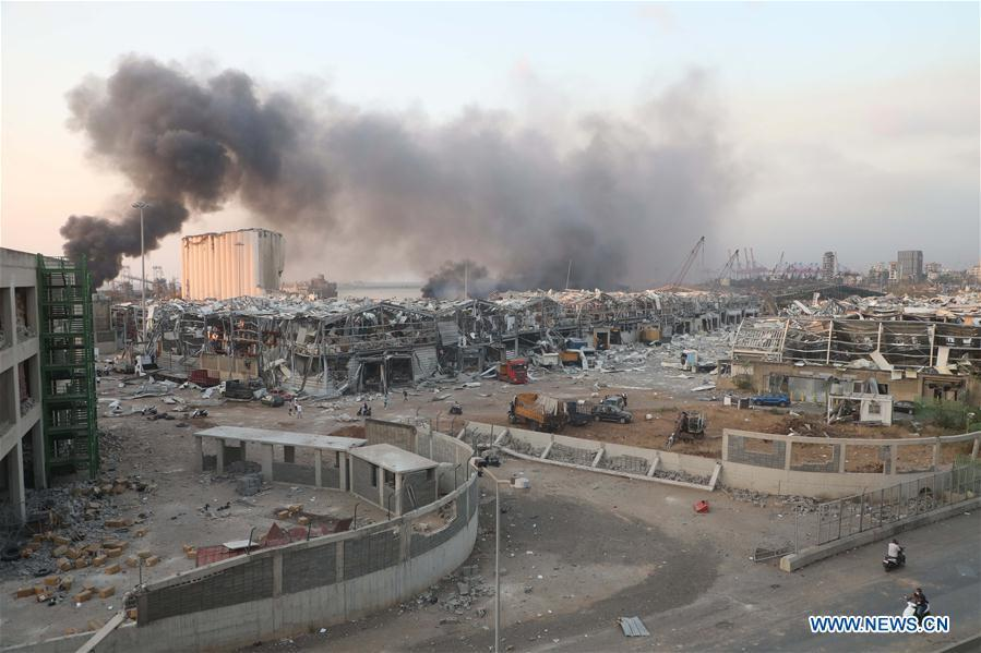 Huge explosions in Lebanon's capital leave dozens dead, injured: local TV