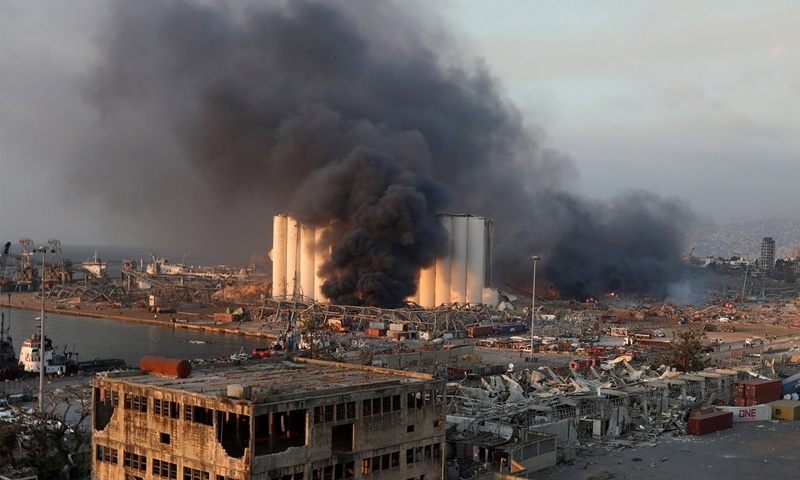 No Chinese casualties reported in Beirut explosion so far: embassy