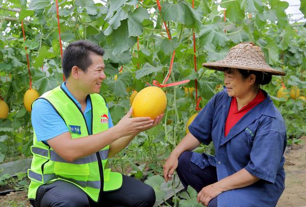 Enjoying fruits of their labor